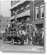 Truck On Street Near Tulsa, Oklahomas Metal Print by Everett
