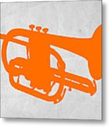 Tuba  Metal Print by Naxart Studio