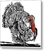 Turkey, Woodcut Metal Print by Gary Hincks
