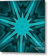 Turquoise Star Metal Print by Marsha Heiken