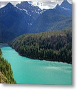 Turquoise Water Of Diablo Lake In The North Cascades Np Metal Print by Pierre Leclerc Photography