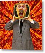 Tv Man Metal Print by Garry Gay