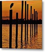 Twelve Poles At Sunset Metal Print by Lynda Dawson-Youngclaus