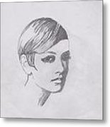 Twiggy Metal Print by Marie Hough