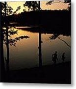 Twilight Over Walden Pond, Made Famous Metal Print by Tim Laman