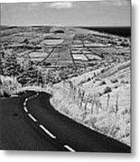 Twisty Country Mountain Road Through Glenaan Scenic Route Glenaan County Antrim  Metal Print by Joe Fox