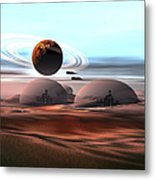 Two Jet Aircraft Fly Over Dome Metal Print by Corey Ford