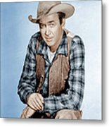 Two Rode Together,  James Stewart, 1961 Metal Print by Everett