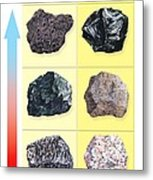 Types Of Volcanic Rock Metal Print by Gary Hincks