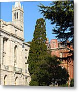 Uc Berkeley . Sather Tower Campanile . Wheeler Hall . South Hall Built 1873 . 7d10040 Metal Print by Wingsdomain Art and Photography