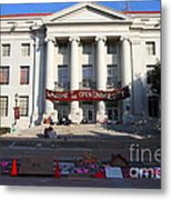 Uc Berkeley . Sproul Hall . Sproul Plaza . Occupy Uc Berkeley . 7d10017 Metal Print by Wingsdomain Art and Photography