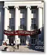 Uc Berkeley . Sproul Hall . Sproul Plaza . Occupy Uc Berkeley . 7d9991 Metal Print by Wingsdomain Art and Photography