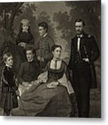Ulysses S. Grant With His Family When Metal Print by Everett