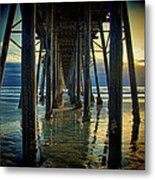 Under The Boardwalk Metal Print by Chris Lord