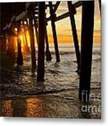 Under The Pier Metal Print by Athena Lin