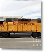 Union Pacific Locomotive Train - 5d18648 Metal Print by Wingsdomain Art and Photography