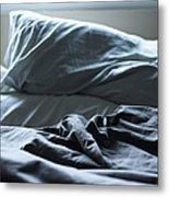Unmade Bed Metal Print by Sam Bloomberg-rissman