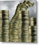 Unstable Economy, Conceptual Image Metal Print by Victor De Schwanberg