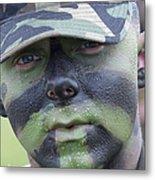 U.s. Army Soldier Wearing Camouflage Metal Print by Stocktrek Images