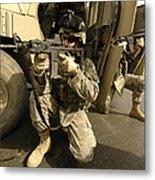 U.s. Army Soldiers Providing Overwatch Metal Print by Stocktrek Images