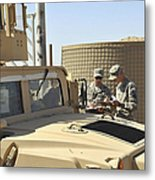 U.s. Army Soldiers Take Accountability Metal Print by Stocktrek Images