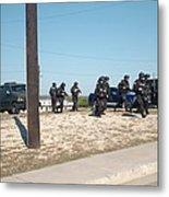 Us Army Swat Team Approaching Metal Print by Everett