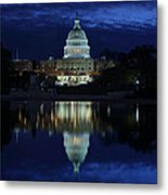 Us Capitol - Pre-dawn Getting Ready Metal Print by Metro DC Photography