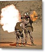 U.s. Marine Fires A Rpg-7 Grenade Metal Print by Terry Moore