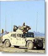 U.s. Marine Standing Ready Metal Print by Stocktrek Images
