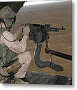 U.s. Marine Test Firing An M240 Heavy Metal Print by Stocktrek Images