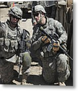 U.s. Soldiers Coordinate Security Metal Print by Stocktrek Images