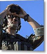 U.s. Special Operations Soldier Looks Metal Print by Stocktrek Images