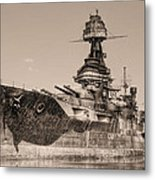 Uss Texas Bw Metal Print by JC Findley