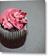 Valentines Cupcake Metal Print by Malania Hammer