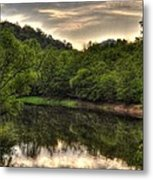Valley River Metal Print by Greg and Chrystal Mimbs