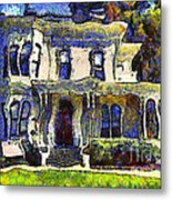 Van Gogh Visits The Old Victorian Camron-stanford House In Oakland California . 7d13440 Metal Print by Wingsdomain Art and Photography