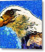 Van Gogh.s American Eagle Under A Starry Night . 40d6715 Metal Print by Wingsdomain Art and Photography