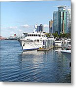 Vancouver Bc Downtown Skyline Panorama Marina Canada. Metal Print by Gino Rigucci