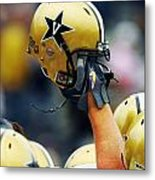 Vanderbilt Commodore Helmet  Metal Print by Vanderbilt University