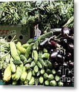 Variety Of Fresh Vegetables - 5d17828 Metal Print by Wingsdomain Art and Photography