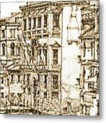 Venice Canals Detail 1 Metal Print by Adendorff Design