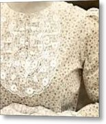 Victorian Dress Metal Print by Joana Kruse
