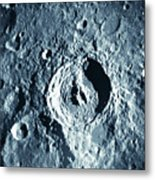 View Of Landscape Of The Moon Metal Print by Stockbyte