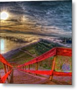 View Of Sun Into Sea At Marin Headlands Metal Print by Image by Sean Foster