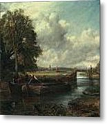 View Of The Stour Near Dedham Metal Print by John Constable