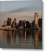 View Of The Waterfront And Downtown Metal Print by Darlyne A. Murawski