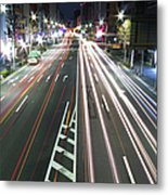 View Of Traffic At Nihonbashi, Tokyo, Japan Metal Print by Billy Jackson Photography