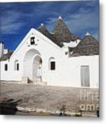 View Of Trullo Sovrano Metal Print by Gualtiero Boffi