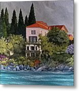 View Of Varenna Metal Print by Linda Scott