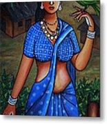 Village Girl Metal Print by Johnson Moya